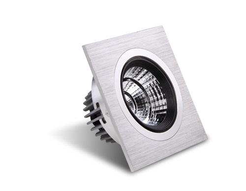 Environmental LED ceiling spotlights.
