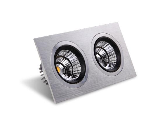 Energy-saving LED ceiling spotlights.