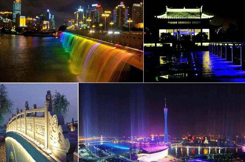 Wuzhishan wash wall spotlights project.